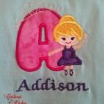Appliqued Alphabet Ballerina T-Shirts