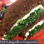 Grilled Kale & Mozzarella on Pumpernickel