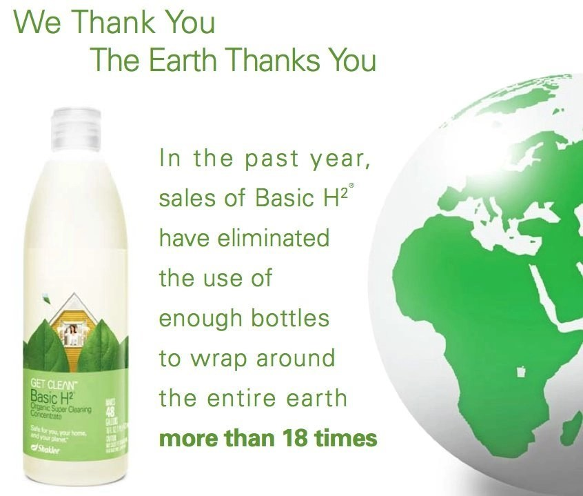 Basic H - plastic bottles around the earth