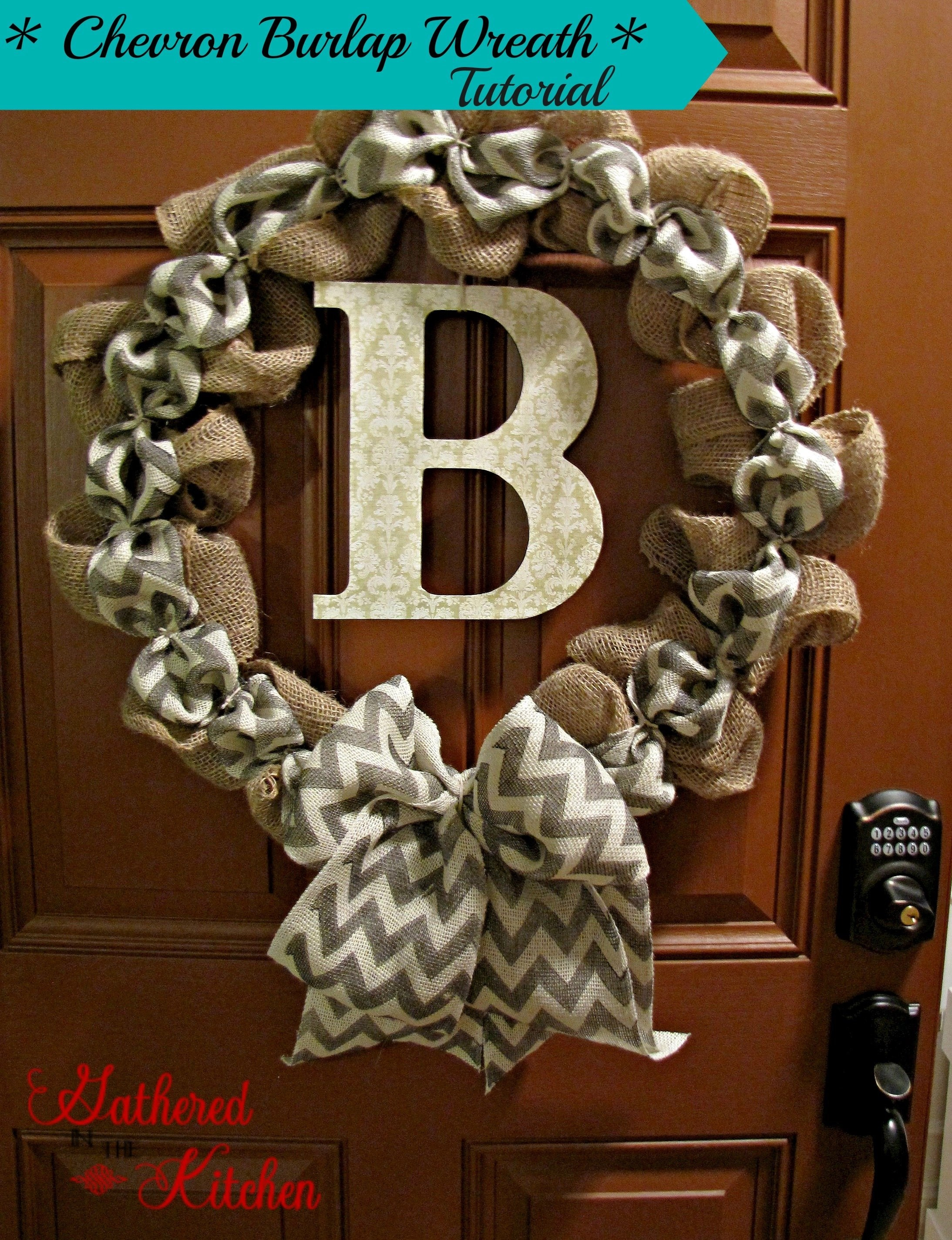 diy chevron burlap wreath
