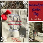 Monogrammed Winter Garden Flag