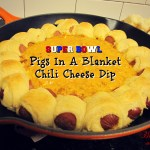 Super Bowl Pigs In A Blanket Chili Cheese Dip