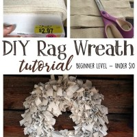 DIY Rag Wreath Tutorial - Beginner Level Project & Costs Under $10