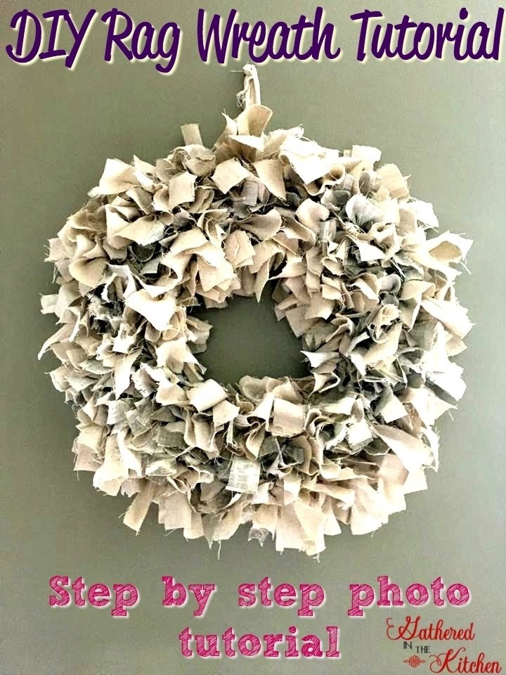 Diy Rag Wreath Tutorial Under 10 Gathered In The Kitchen