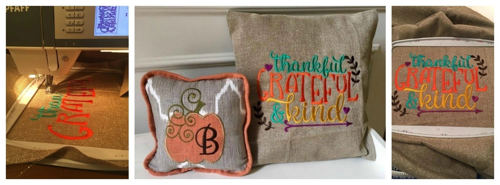 DIY Thanksgiving Pillows
