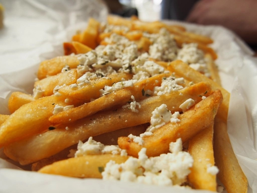 Downtown Chicago, IL: Greek French Fries
