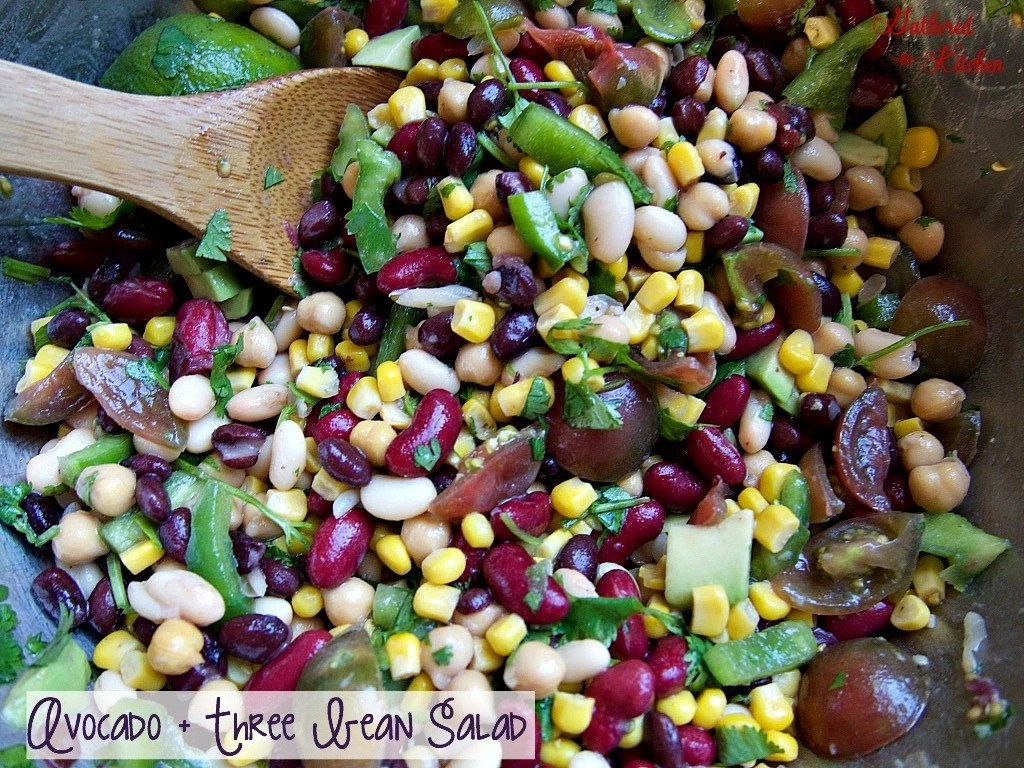 avocado three bean salad that is way to make and delicious! yum!