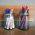 Back To School Mason Jar Supply Organizer