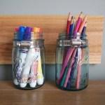 Back To School Mason Jar Supply Organizer