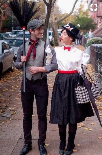 Couples Halloween Costumes: Bert & Mary Poppins
