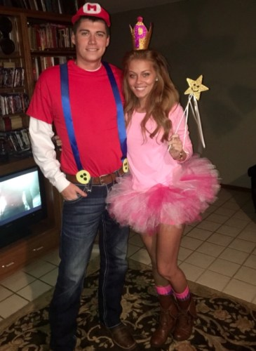 couples halloween costumes mario princess peach