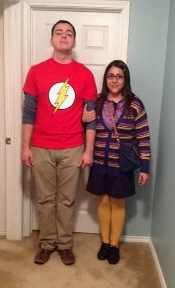 couples halloween costumes sheldon amy