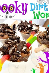 Spooky Dirt & Worms Dessert