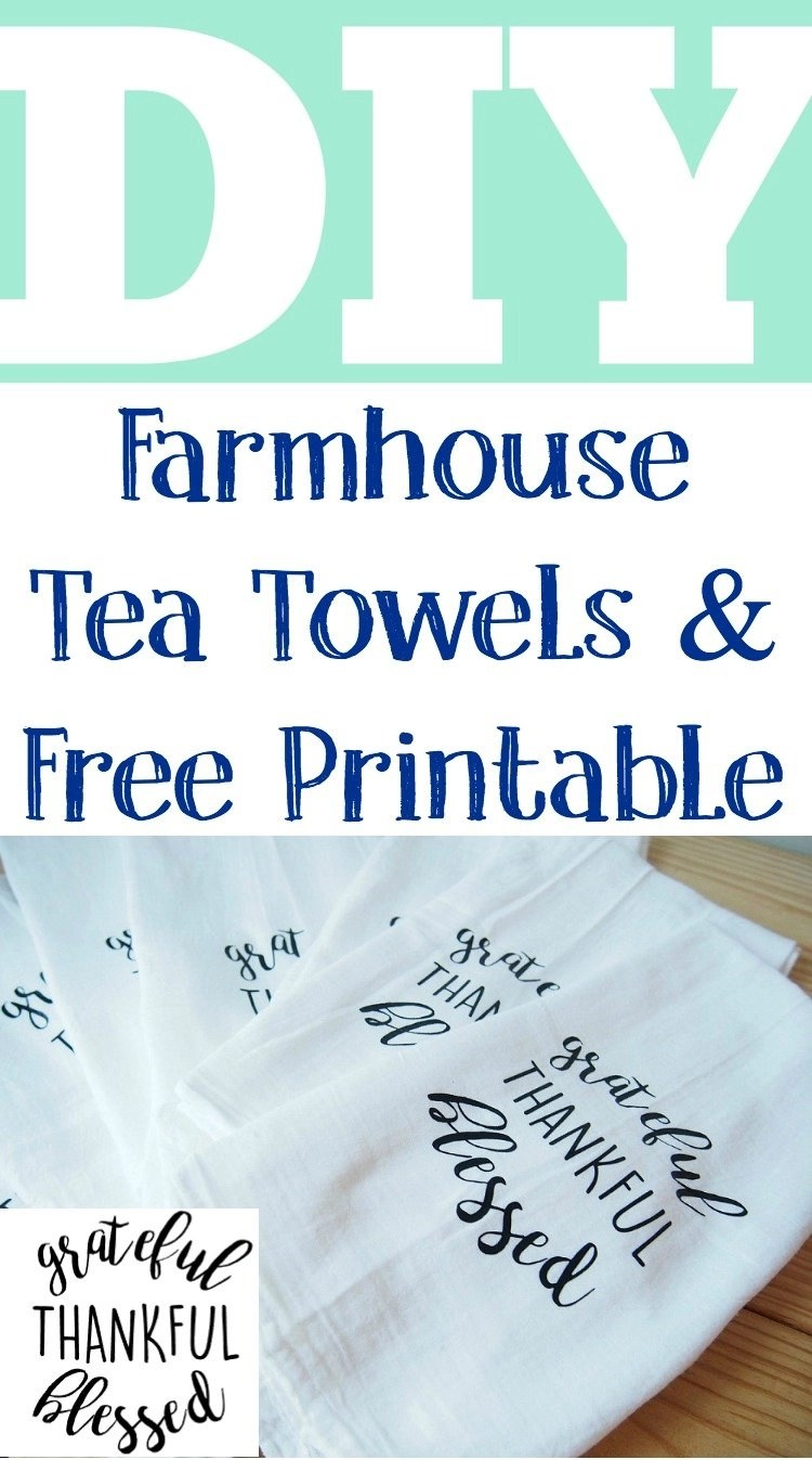 Step by step instructions to making your very own personalized farmhouse tea towels