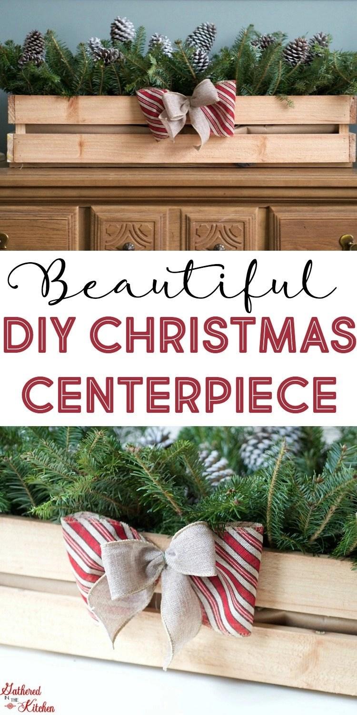 Beautiful DIY Christmas Floral Centerpiece