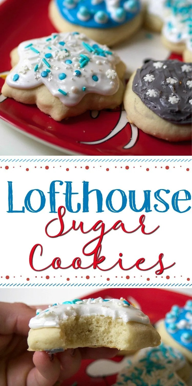 copycat Lofthouse sugar cookie recipe. Fluffy and cake-like