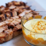 Keto Friendly Chicken Skewers with Creamy Turmeric Dip