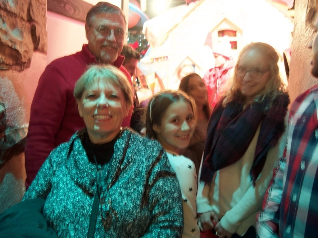 Visiting Santa at Macy's Santa Land, Chicago, Illinois