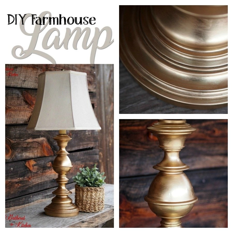 DIY farmhouse lamp | how to refinish a lamp | diy desk lamp ideas | easy lamp making ideas | diy lamp for bedroom | redo lamp base | how to spray paint a lamp base #farmhouse #design #lighting