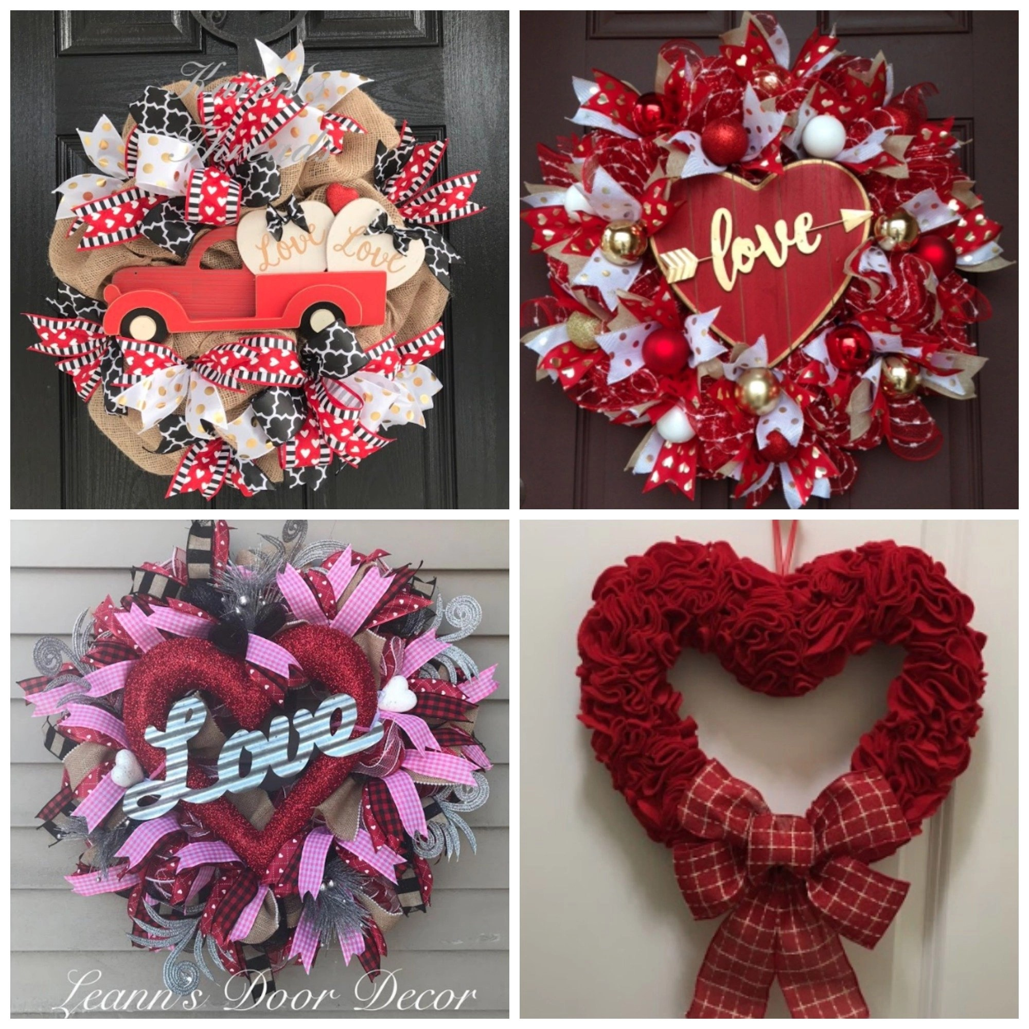 valentines day wreath ideas for front doors gathered in the kitchen. Black Bedroom Furniture Sets. Home Design Ideas