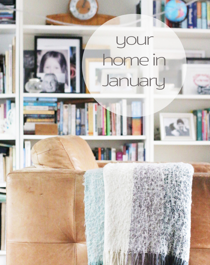 Your home in January. Some blanket love.