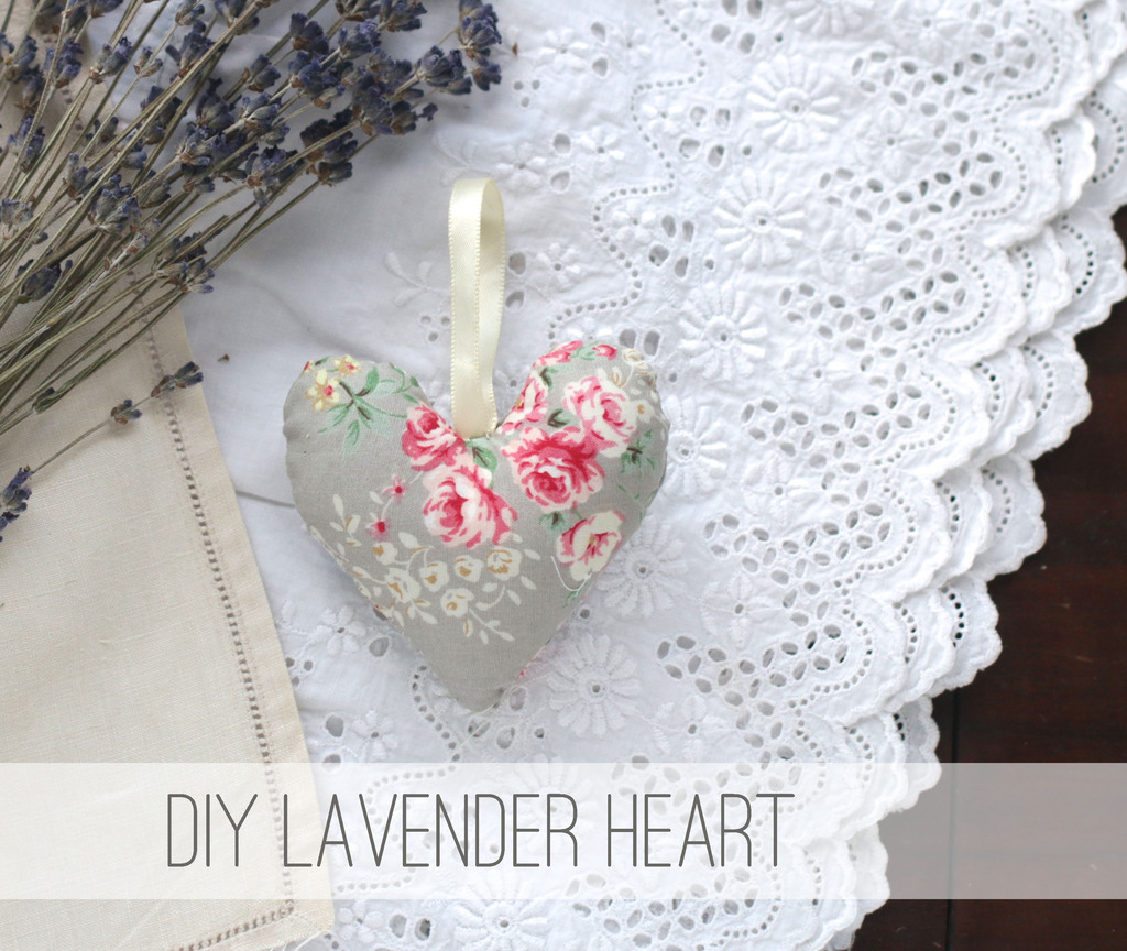 sew. lavender hanging heart.