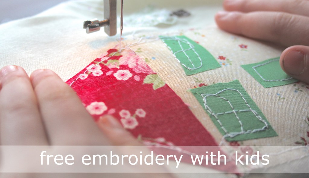 kids that sew { free embroidery }