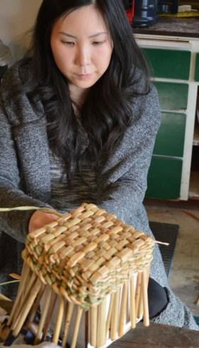 Rush basketry class