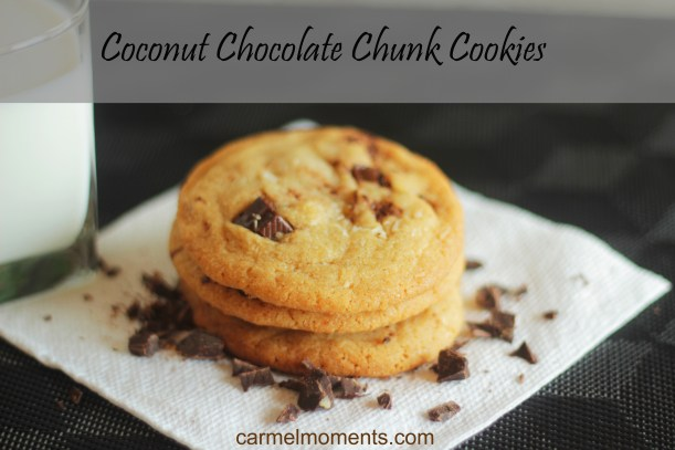 Coconut Chocolate Chunk Cookies | gatherforbread.com