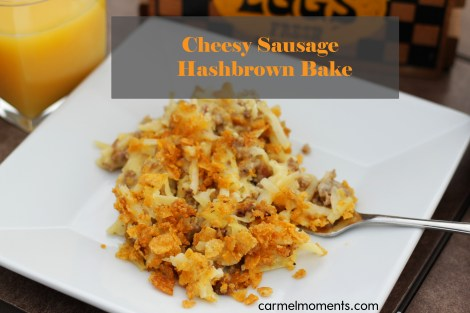 Cheesy Sausage Hash Brown Bake