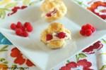 Cream puffs Raspberry whipped cream