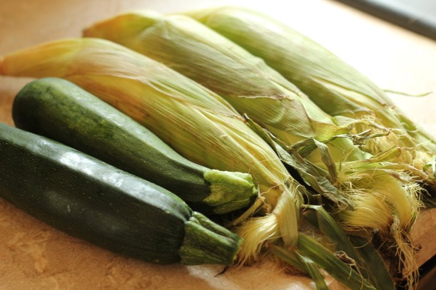 Zucchini bacon corn medley | gatherforbread.com
