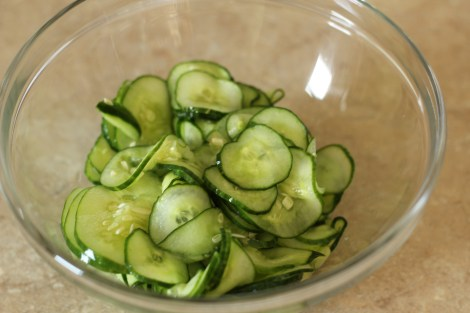 Cucumber salad  |gatherforbread.com