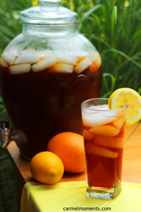 Sunshine Iced Tea Recipe with Citrus Lemon Orange