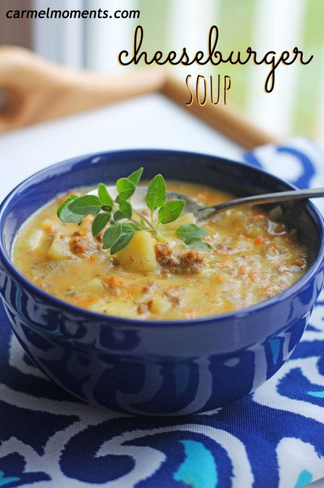 Cheeseburger soup - Loaded up with all the cheesiness of a perfect burger in a delicious soup!