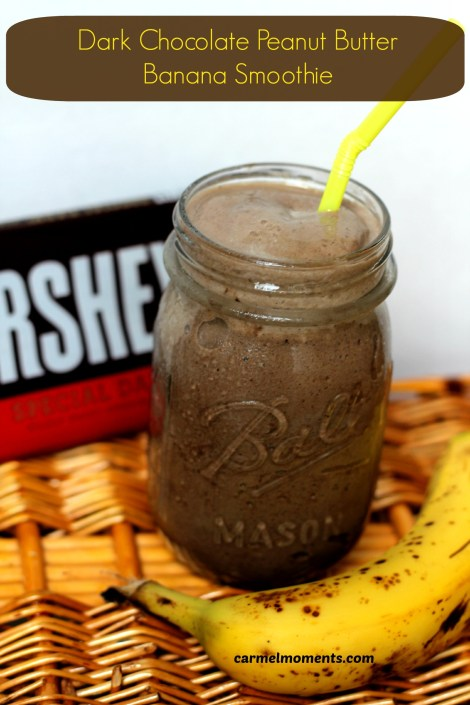 Dark chocolate pb banana smoothie | gatherforbread.com
