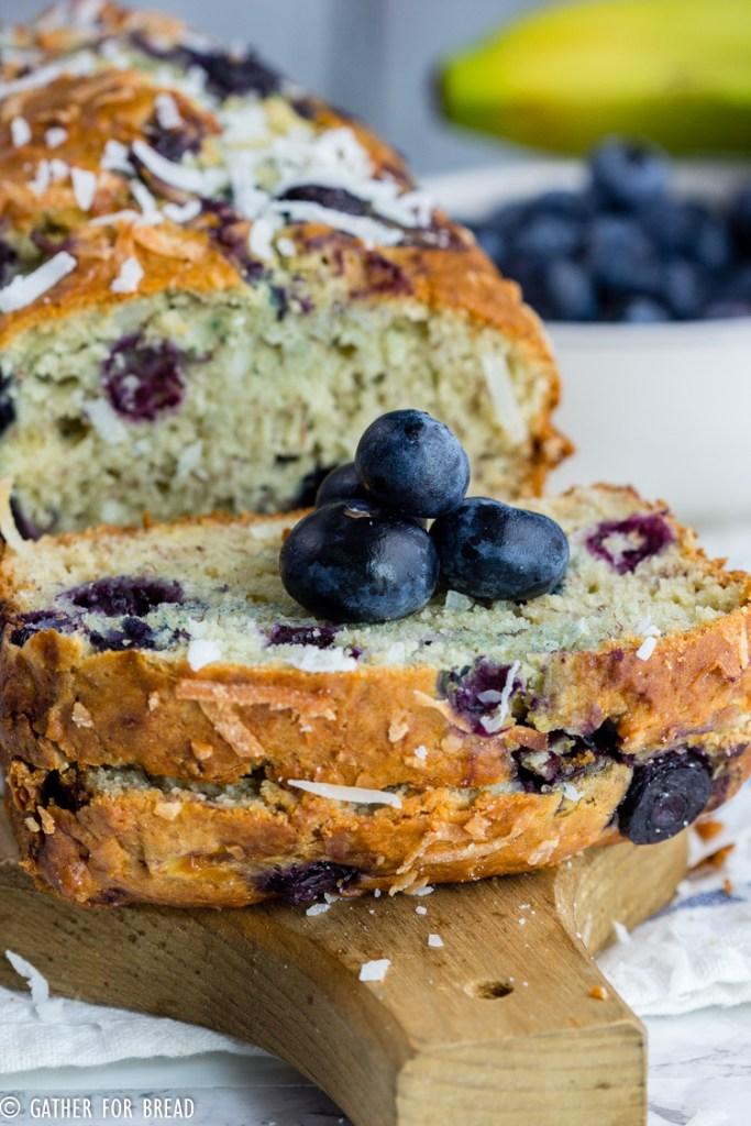 Blueberry Coconut Banana Bread