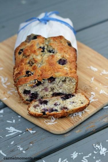 Blueberry Coconut Banana Bread | gatherforbread.com