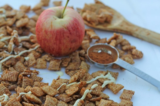 Caramel Apple Chex Mix | gatherforbread.com