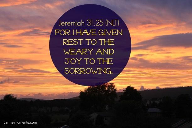 Jeremiah 31:25 | gatherforbread.com