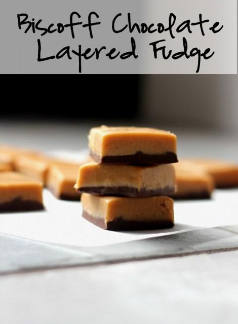 Biscoff Chocolate Layered Fudge | gatherforbread.com
