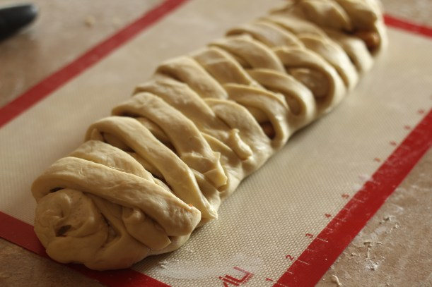 Apple Cream Cheese Danish Braid -- A tender apple danish with cream cheese filling. | gatherforbread.com