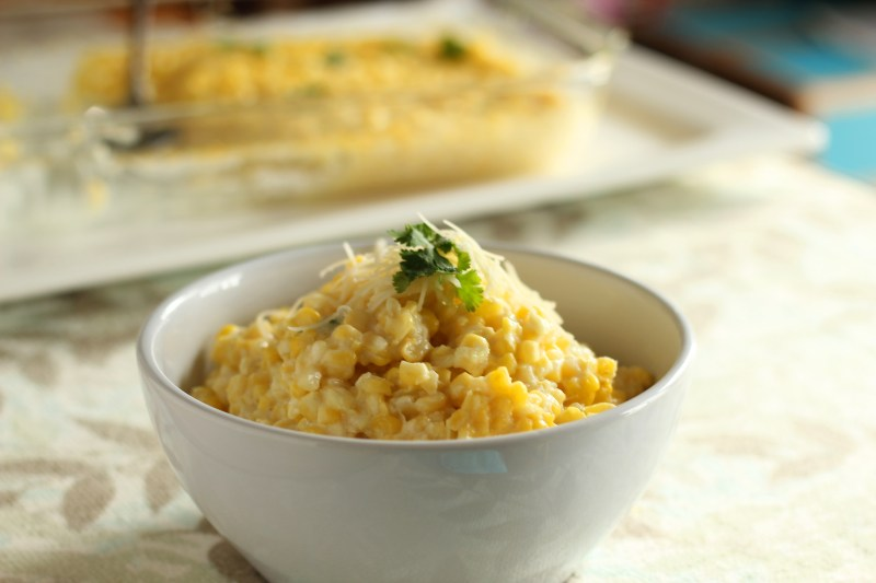 Creamy Baked Corn with Parmesan