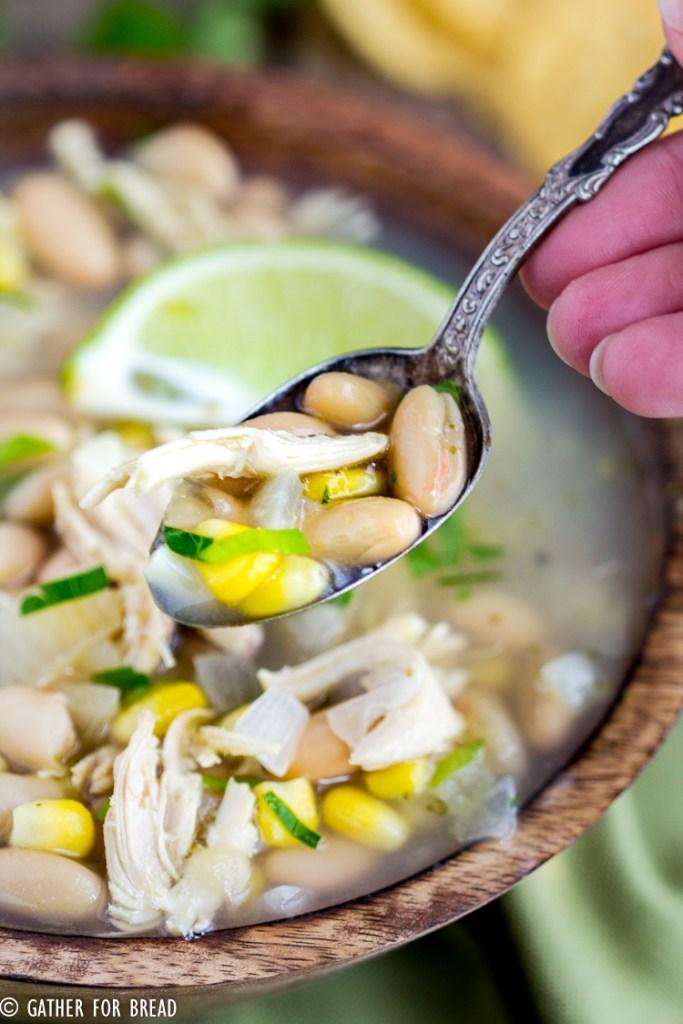 Chicken White Bean Corn Chili - You've got to try this white chicken chili with corn. This hearty recipe is perfect for dinner, easy to make and healthy too! Make this for the cold winter nights!