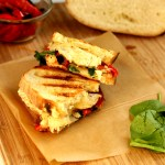 Chicken with Pepper Jack and Roasted Peppers Panini
