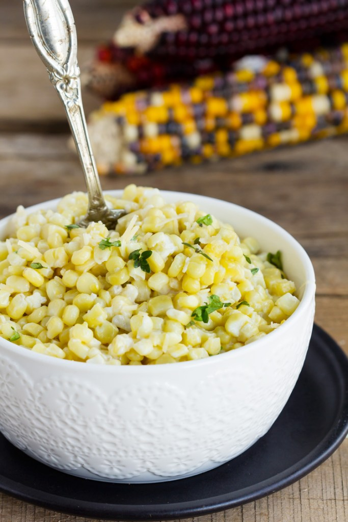 Creamy Parmesan Baked Corn
