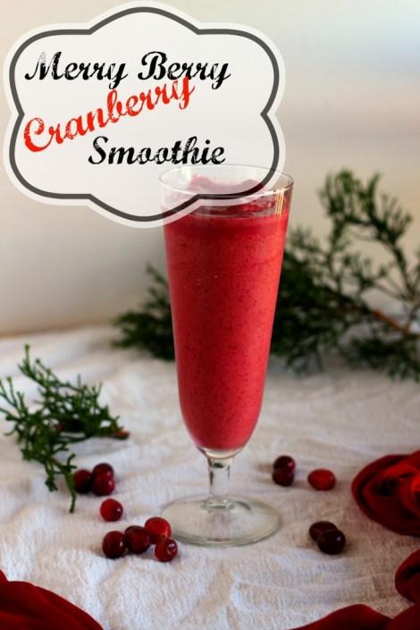 Merry Berry Cranberry Smoothie