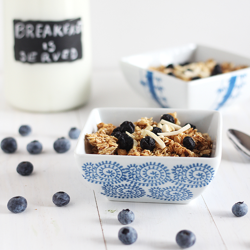 Blueberries and Cream Granola