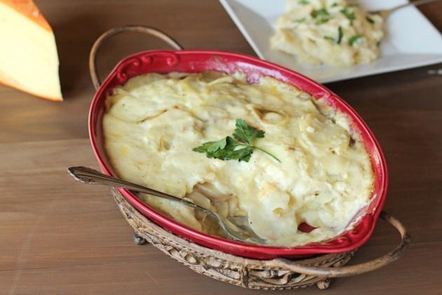 Cheesy Scalloped Potatoes   gatherforbread.com