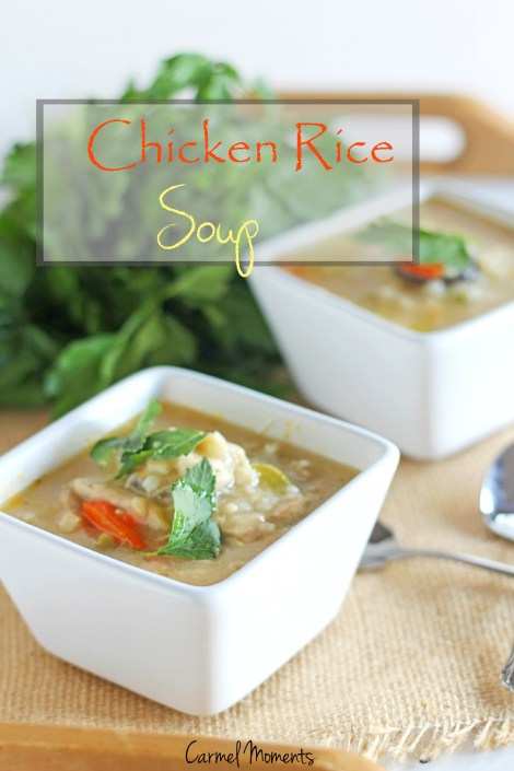 Chicken Rice Soup { Carmel Moments }